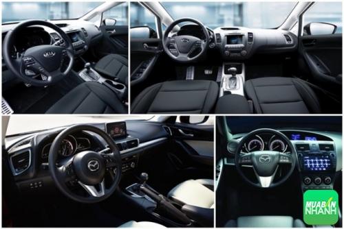 So sánh nội thất, trang bị tiện nghi của Kia K3 và Mazda 3