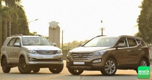Hyundai Santafe và Toyota Fortuner