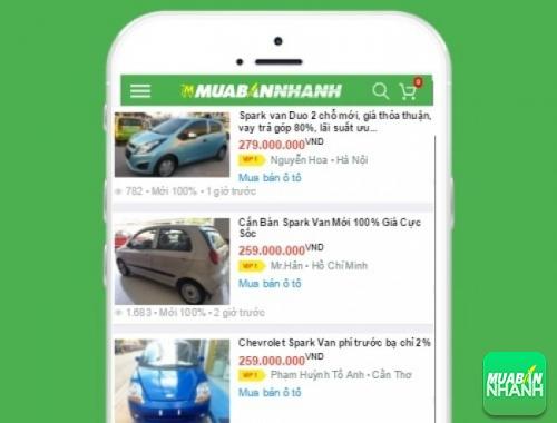 Giá xe Chevrolet Spark Van trên mạng xã hội MuaBanNhanh
