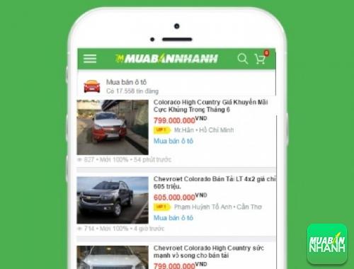 Giá xe Chevrolet Colorado trên mạng xã hội MuaBanNhanh