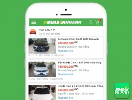 Giá xe Honda Civic trên mạng xã hội MuaBanNhanh