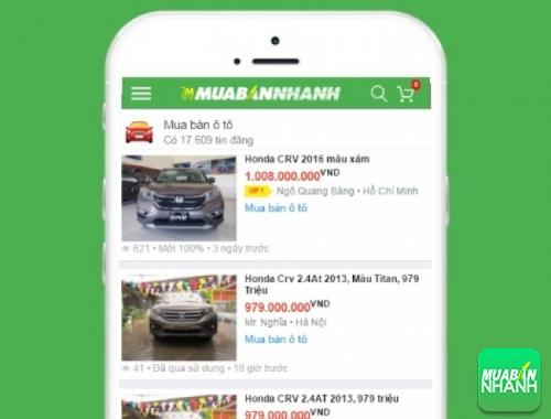 Giá xe Honda CR-V trên mạng xã hội MuaBanNhanh