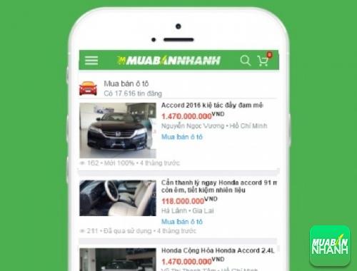 Giá xe Honda Accord trên mạng xã hội MuaBanNhanh
