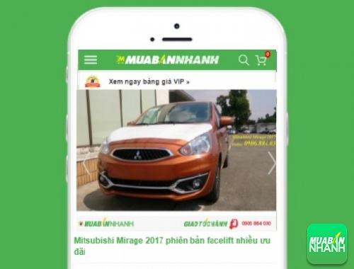 Mitsubishi Mirage - sản phẩm đang bán trên mạng xã hội MuaBanNhanh