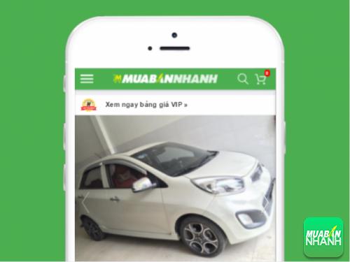 Mẫu xe Kia Morning cũ nhập khẩu số tự động hiện được đăng bán trên Mua Bán Nhanh