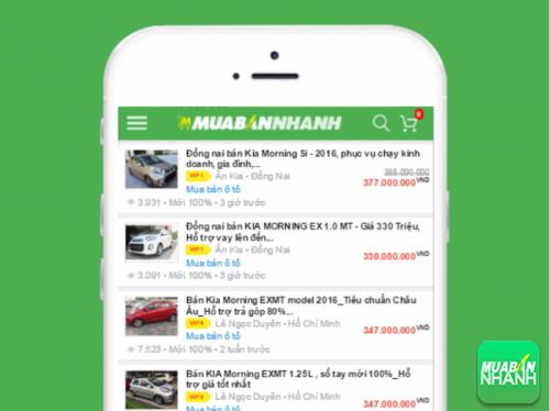 Nhiều đại lý xe Kia Morning Si 2016 đăng tin bán xe trên Mua Bán Nhanh