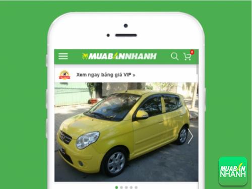 Chiếc Kia Morning màu vàng trẻ trung hiện được đăng bán tại Mua Bán Nhanh