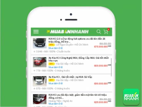 Danh sách xe Kia K3 cần bán tại Mua Bán Nhanh