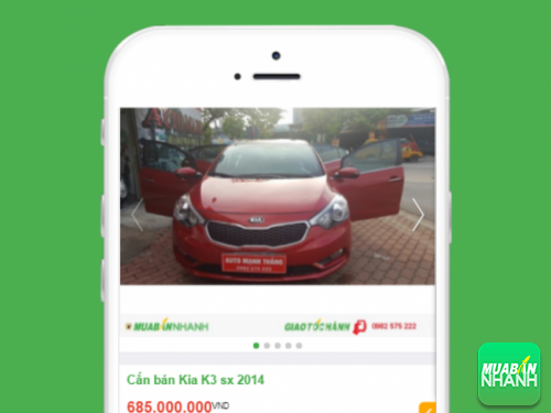 Kia K3 cũ đời 2014 hiện được đăng bán trên Mua Bán Nhanh