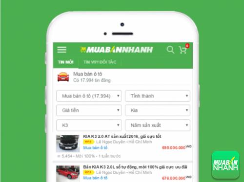 Bộ lọc tin đăng tiện lợi cho phép lựa nhanh xe Kia K3 từ hàng trăm ngàn tin đăng mua bán tại Mua Bán Nhanh