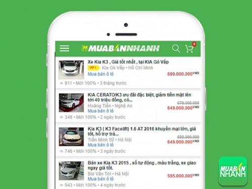 Các dòng xe Kia K3 cần bán tại Mua Bán Nhanh