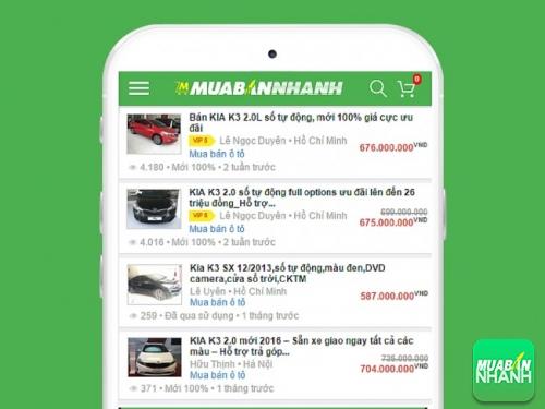 List xe Kia K3 có bán tại Mua Bán Nhanh