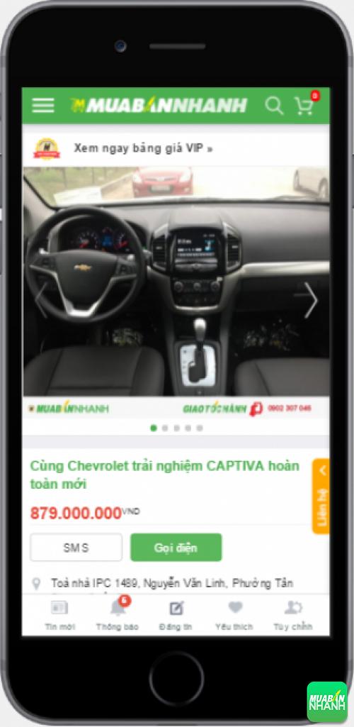 Nội thất xe Chevrolet Captiva trên chuyên trang muabannhanh.com