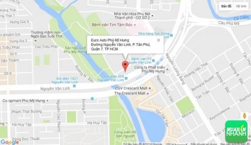 Bản đồ đường đi đến Đại lý Euro Auto Phú Mỹ Hưng TP HCM