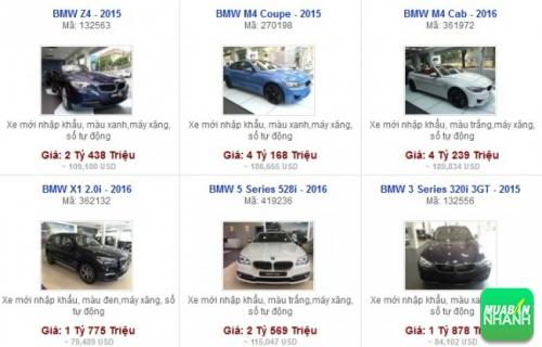 Các dòng xe đang bán tại Đại lý BMW Pasteur TPHCM