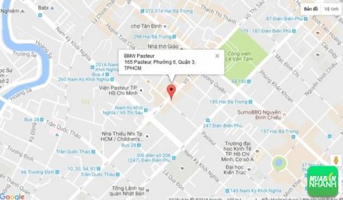 Bản đồ đường đi đến Đại lý BMW Pasteur TPHCM