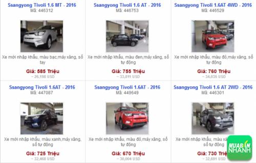 Các dòng xe đang bán tại Đại lý SsangYong Thăng Long Hà Nội