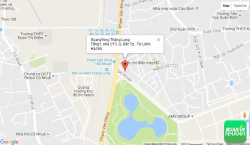 Bản đồ đường đi đến Đại lý SsangYong Thăng Long Hà Nội