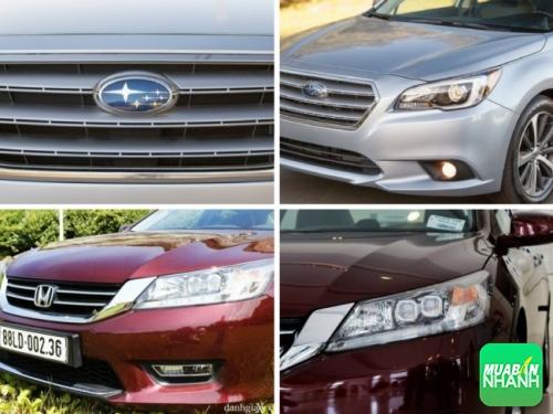 so sánh đầu xe Honda Accord và Subaru Legacy