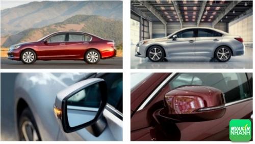 so sánh chiều dài Honda Accord và Subaru Legacy