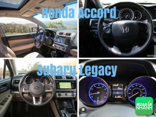 so sánh nội thất Honda Accord và Subaru Legacy