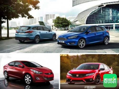 So sánh 3 xe Honda Civic, Hyundai Elantra và Ford Focus