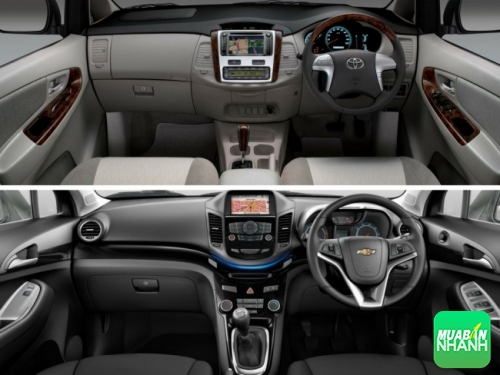 So sánh nội thất Chevrolet Orlando và Toyota Innova