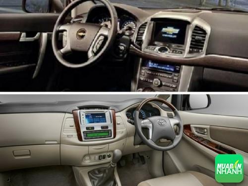 So sánh về nội thất Chevrolet Captiva và Toyota Innova