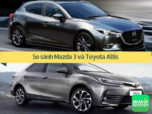 So sánh Mazda 3 và Toyota Altis 2017