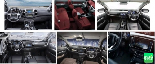 Nội thất Toyota Hilux 2017