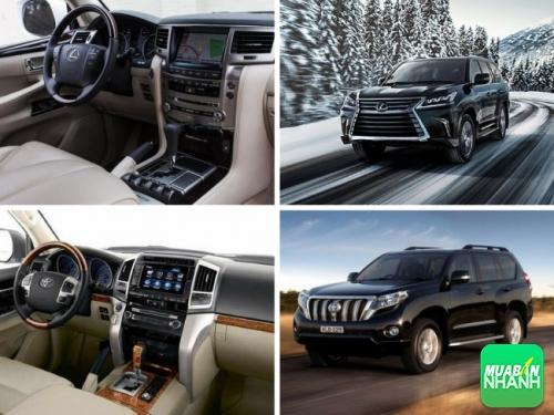 So sánh ô tô về nội, ngoại thất LX 570 và Toyota Land Cruiser 2017