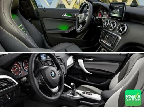 Dễ thấy nội thất Mercedes A200 nổi trội hơn BMW 116i