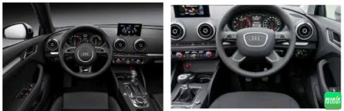 nội thất của Audi A3 được thiết kế khá đơn giản