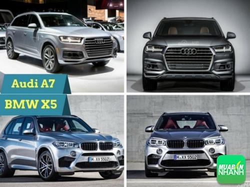 So sánh về thiết kế ngoại thất audi q7 và BMW X5