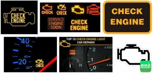 biểu tượng Check engine trên oto