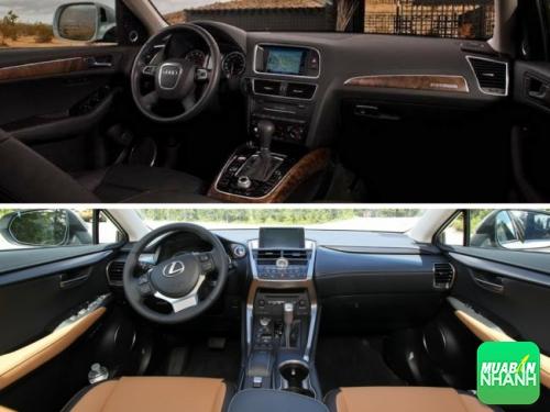 nội thất Lexus NX 200T và Audi Q5 2017