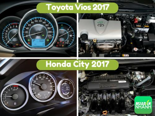 Vận hành honda City 2017 và toyota Vios 2017