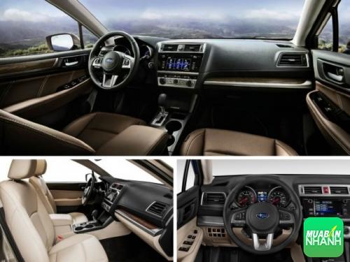Nội thất xe Subaru Outback 2017 xứng đáng nhận được lời khen. Nội thất với tông màu đen chủ đạo cùng vật liệu sử dụng đều phối hợp hài hòa.