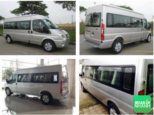 Ford Transit 16 chỗ có màu trắng bạc, phù hợp với những người mang mệnh Hoả, Thổ, Kim, Thuỷ