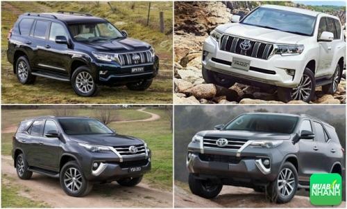 So sánh Toyota Prado 2018 và Toyota Fortuner 2018